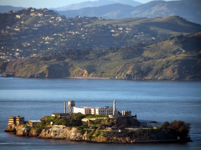 Alcatraz from Helicopter