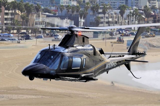 luxury helicopter on beach