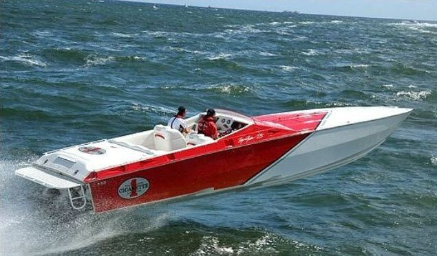 awesome watercraft, and achieves speeds over 100 mph. This race boat ...