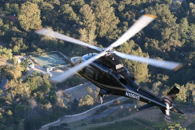 Beverly Hills helicopter mansion tour