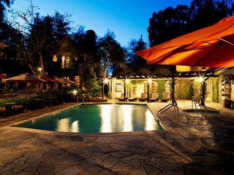 Winery swimming pool exterior