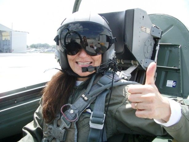 Jet ride civlian pilot thumbs up